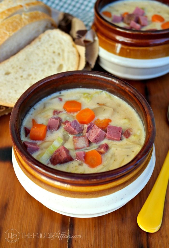 This Corned Beef and Cabbage Chowder is a delicious way to beat the chilly weather and use up leftovers from your Saint Patrick's Day feast!