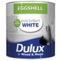 Dulux Eggshell Pure Brilliant White 2.5Ltr for wood and metal £39.30