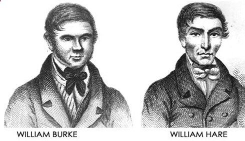 In the 1800s, the demand for cadavers for medical schools was higher than the supply. In 1828, William Burke  William Hare began supplying bodies for medical lectures. After one natural death, they began smothering people as a means of procuring bodies to sell. They killed 16 people in 10 months before the body of their last victim was discovered in their room by their lodgers. Hare received immunity for his testimony  was released in Feb 1829, a month after Burke was hanged.