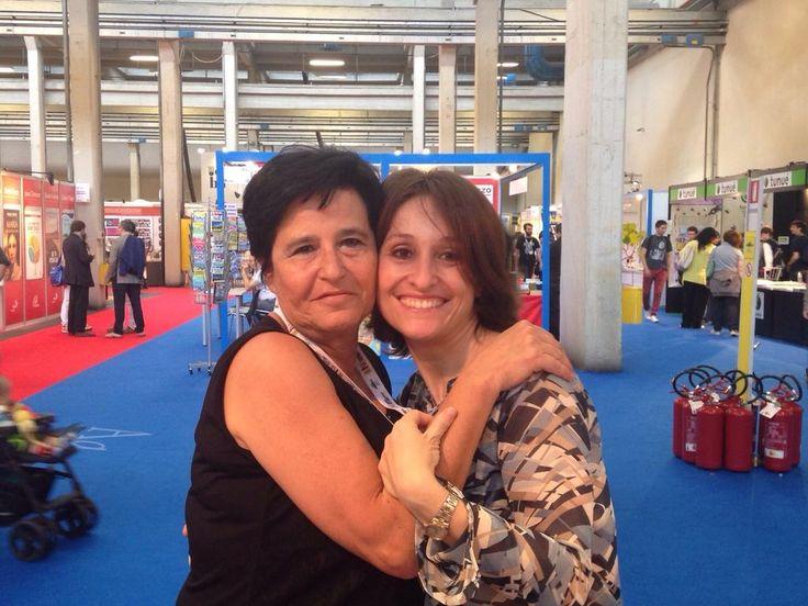 Guardate un po' chi è passata a trovarci :) Maria Anna di Casa Lettori #SalTo15 #meraviglie