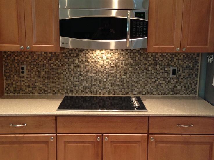 glass stone backsplash we did kitchens pinterest