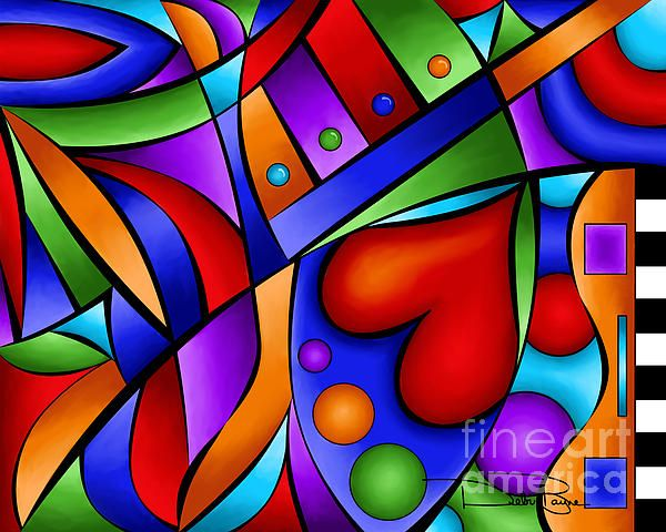 "Pop Art - ""Heart and Soul"" - by Debi Payne"