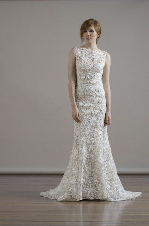 If you're looking for a modest wedding dress, a high neckline will be the perfect style for you. Fall 2015 Liancarlo Wedding Dresses