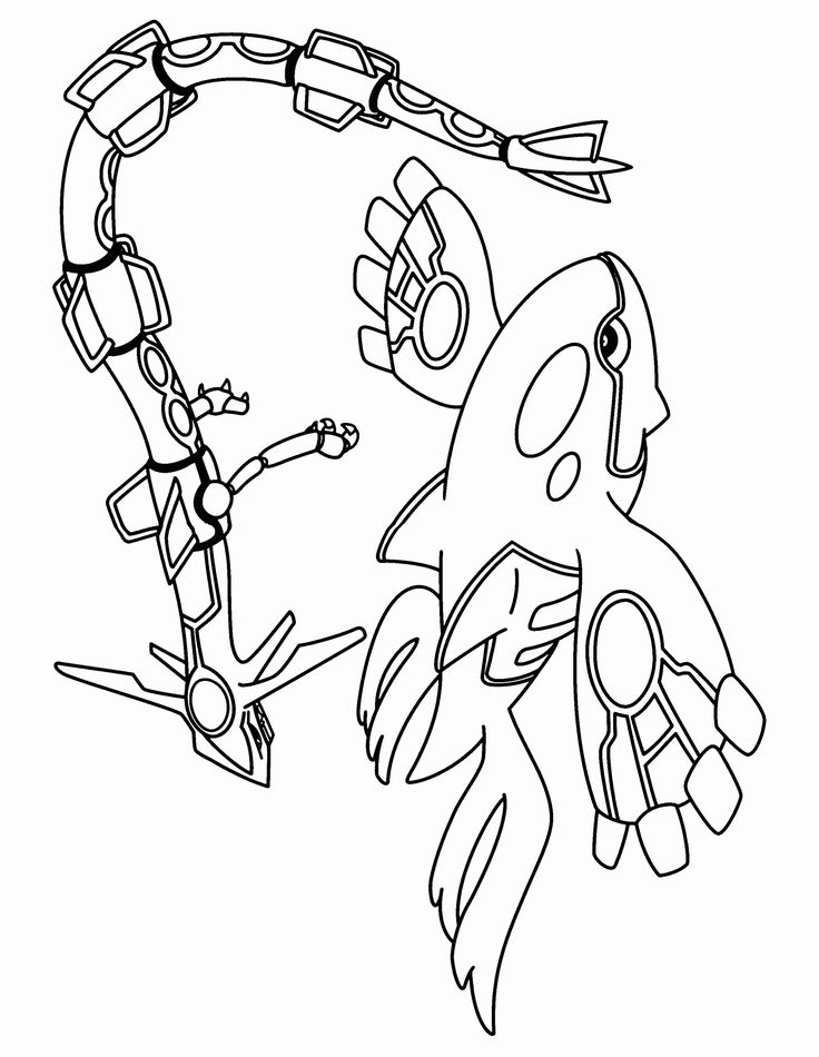 32 Mega Rayquaza Coloring Page in 2020 Pokemon coloring