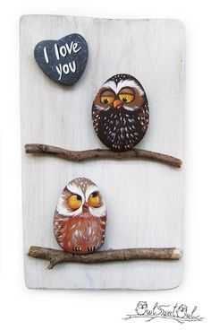 Einzigartige 'handgemachte I Love You' Eulen von owlsweetowl