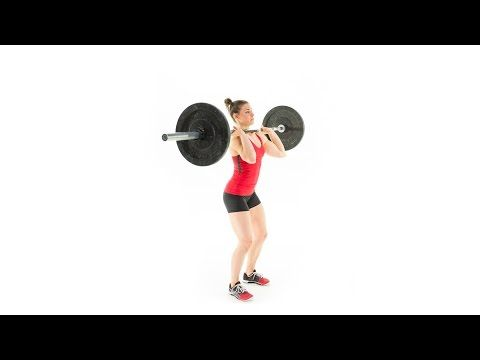 The Push Press - YouTube. Note the head moves back! Move your head around the bar, not the other way around.