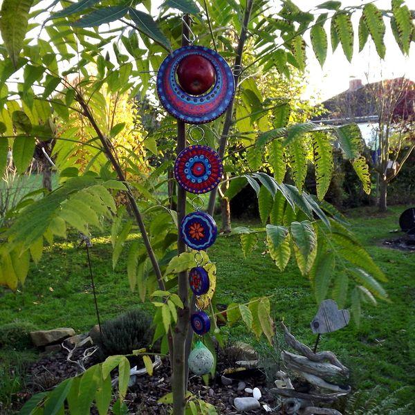 XXL Mobile u. Vogelfutterparadies Lila, blau, Rot von KIMAMA-design Andrea Abraham auf DaWanda.com