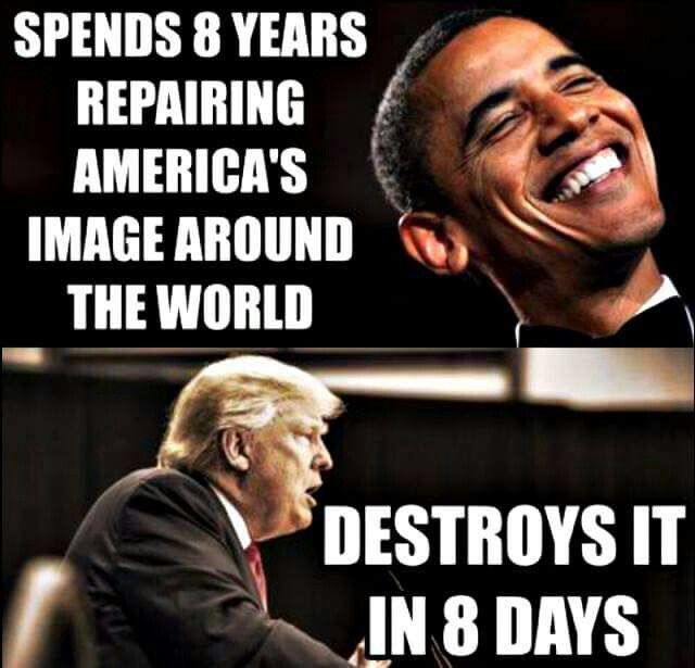 I don't know how horrible our image was prior to Obama, but Trump has totally destroyed our image even from the past several decades