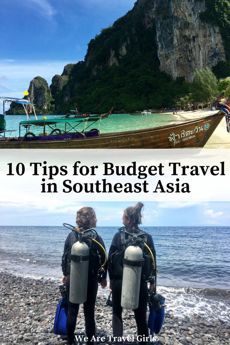 10 TIPS FOR BUDGET TRAVEL IN SOUTHEAST ASIA - 10 tips from a seasoned backpacker on a budget friendly trip through Southeast Asia, highlighting accommodation, transportation, air fare, and more! Plan an amazing trip through beautiful Southeast Asia without breaking the bank. By Shannon Boselli for http://WeAreTravelGirls.com