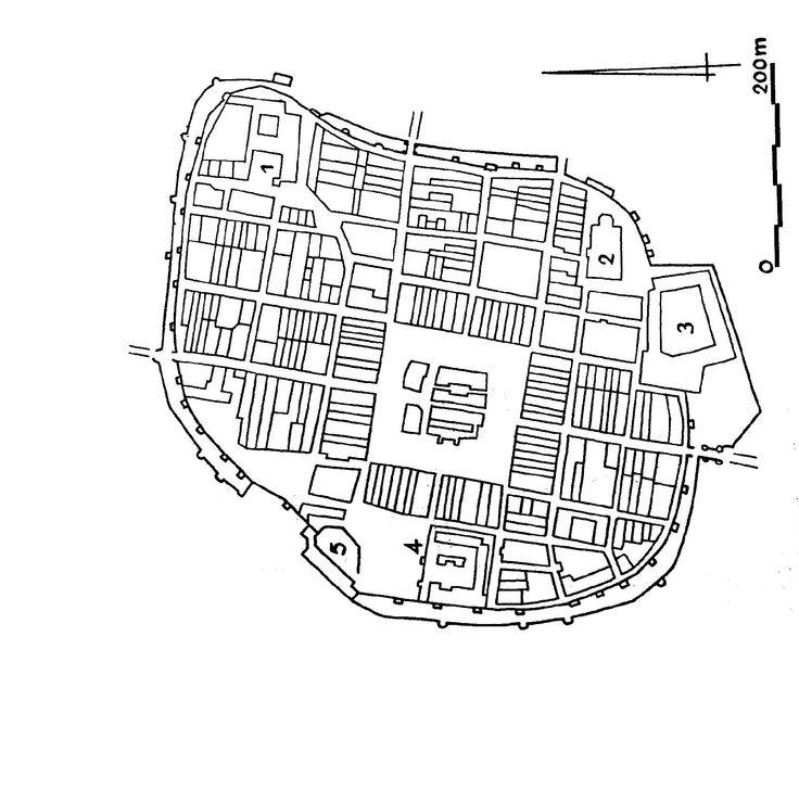 Miast na planie regularnym, czyli miasta z wyraźnie wyznaczona struktura szachownicy z widocznym rytmicznym, powtarzalnym podziałem to przede wszystkim miasta lokacyjne, wykształcone w przeciagu trzech wieków, podlegajace miejskiemu prawu magdeburskiemu lub jego lokalnym odmianom. W ich planach jednak mona dopatrzec sie pewnych odstepstw od rytmu , które wynikają z adaptacji elementów pochodzących z okresu przedlokacyjnego.