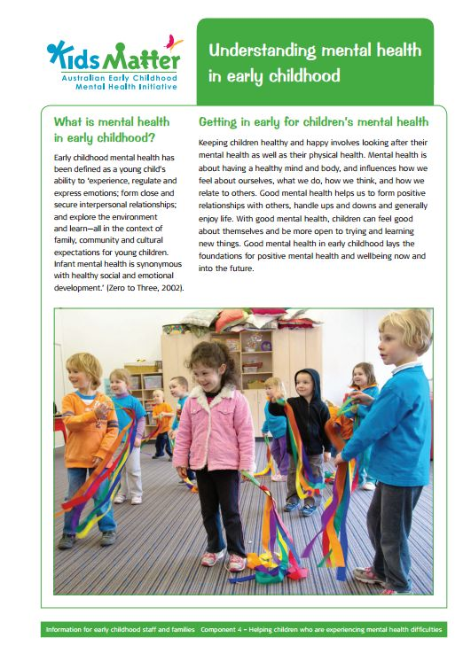 Top tips: Understanding mental health in early childhood. Information sheets for families and ECEC staff.