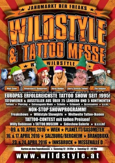 Wildstyle Tattoo Messe Tour Vienna 2016