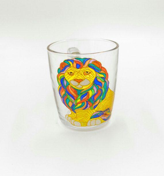 Lion King Mug Hand Painted Gift Coffee Tea Handmade