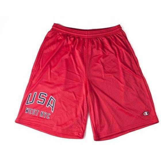 WEST NYC Champion USA Shorts Red