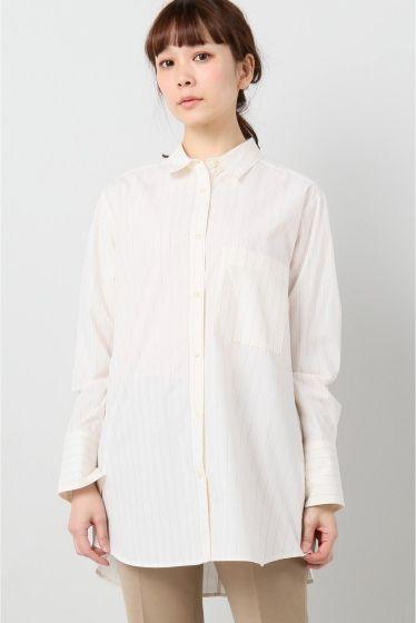 ボウシワオーバーシャツ  ボウシワオーバーシャツ 6264 シンプルで使いやすいベーシックなシルエットのシャツ きれい目のパンツで合わせてオフィスシーンにも ラフにデニムでデイリーユースもおすすめです モデルサイズ:身長:161cm バスト:80cm ウェスト:58cm ヒップ:88cm 着用サイズ:フリー