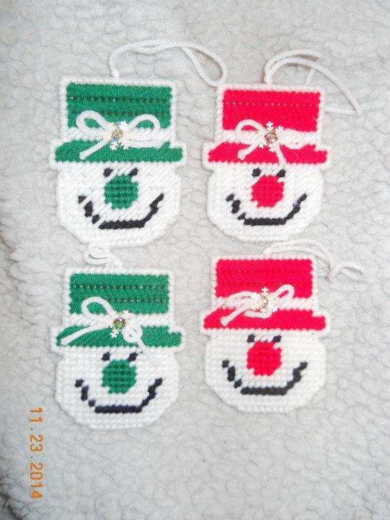 Snowmen Ornaments 4 by SpyderCrafts on Etsy