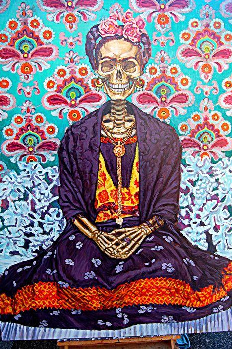 love freida: Skull Paintings, Dia De Los Muertos Xoxo, Beautiful, Sugar Skull Painting, Master Bedrooms, Frida Kahlo Artworks, Art Frida Kahlo, Day, Frida Khalo