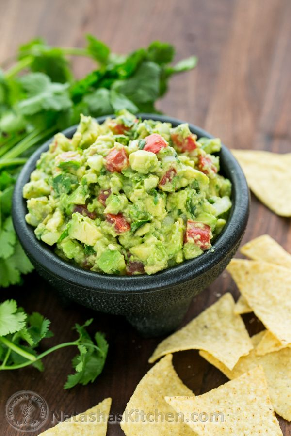 Spicy Guacamole: This spicy guac is all you need to get your party started.  Get the recipe from Natasha's Kitchen.