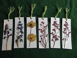 Flower pressing Bookmarks