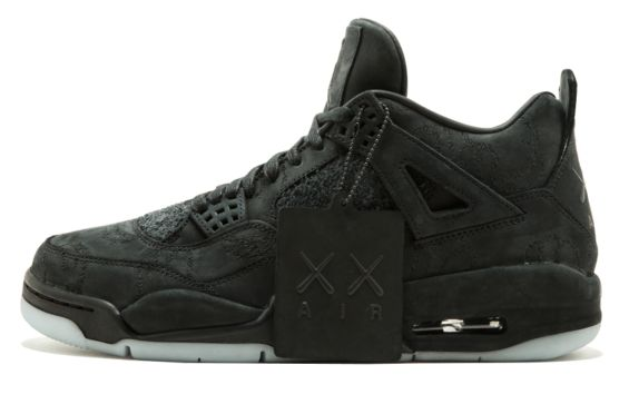 Get Ready For The KAWS x Air Jordan 4 Black