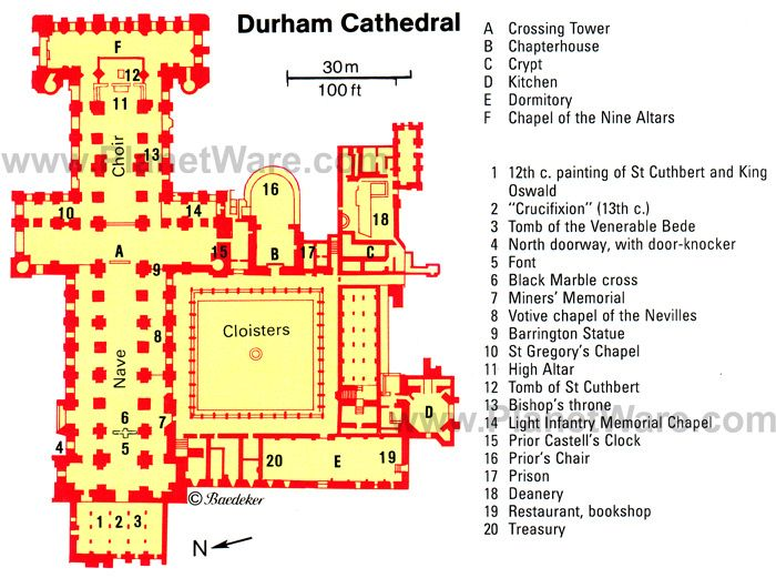 Romanesque architecture england site plan durham for South cathedral mansions floor plans
