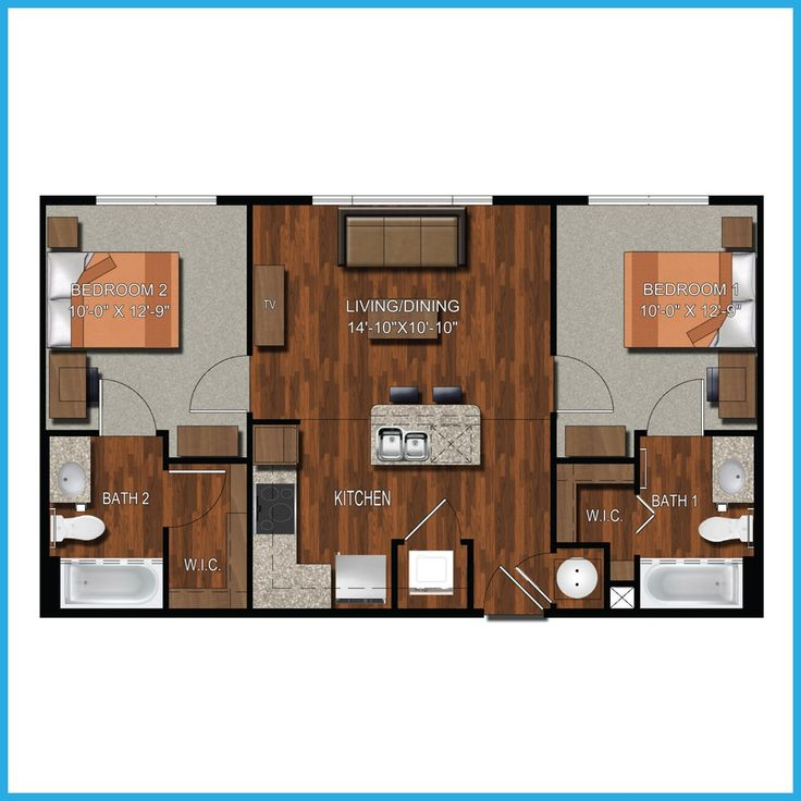 2 Bedroom 2 Bathroom College Station Apartment