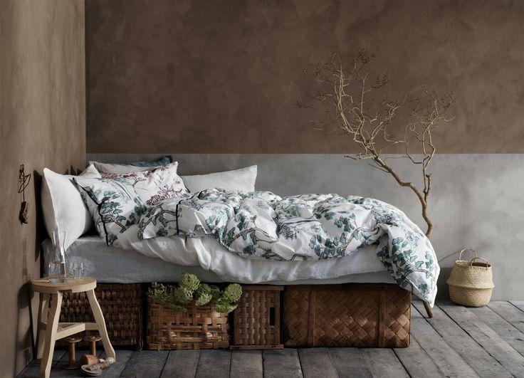 Bonsai sängkläder i percale med tryckt vackert mönster.