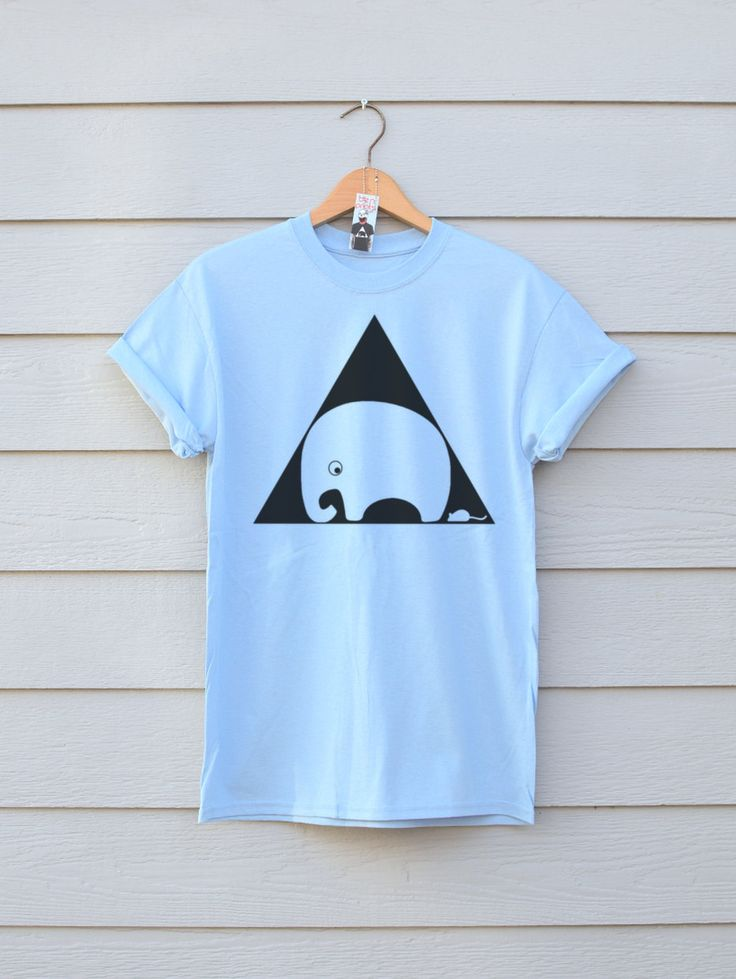 Nelly And Mouse Tee In Light Blue, By Ben Prints On Etsy