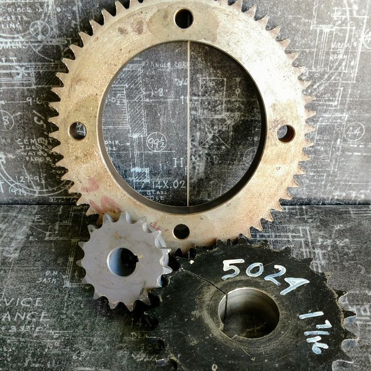 Salvage gears? Yes please! Includes a small, medium, and large size gear. Perfect stacked as book ends or an industrial diy project! Gears are salvaged from the Tampa Tribune newspaper.