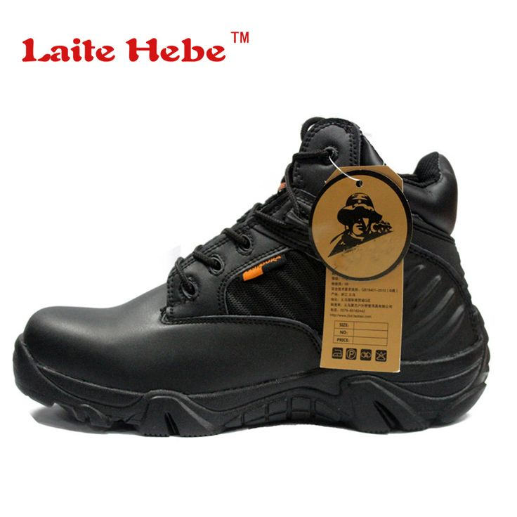 Laite Hebe Delta Tactical Men Boots American SWAT Combat Winter Desert Anti-Collision Shoes Mens Military Boots Hiking Size39-45