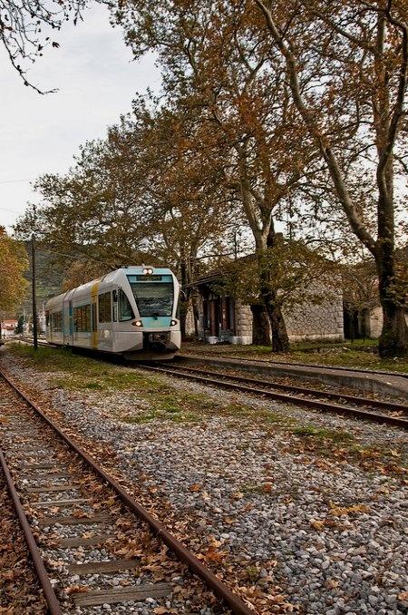 Railway Station of Parthenio, Arcadia, Peloponnese /  by Dimitris G. via Flickr