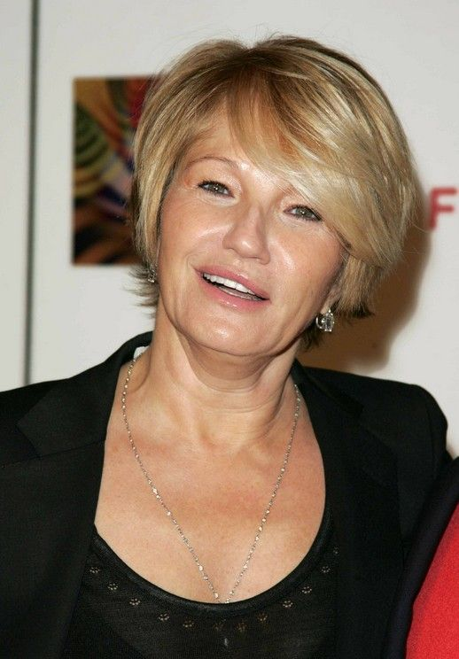Short Haircut for Mature Women Over 50: Ellen Barkin's Short Hairstyle - Hairstyles Weekly