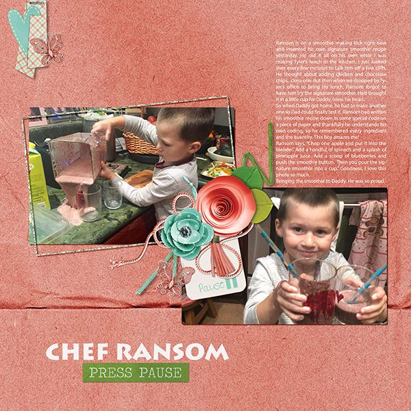 Template are always such a boost to getting started on a layout. This kit and clusters showed off my photos very well!