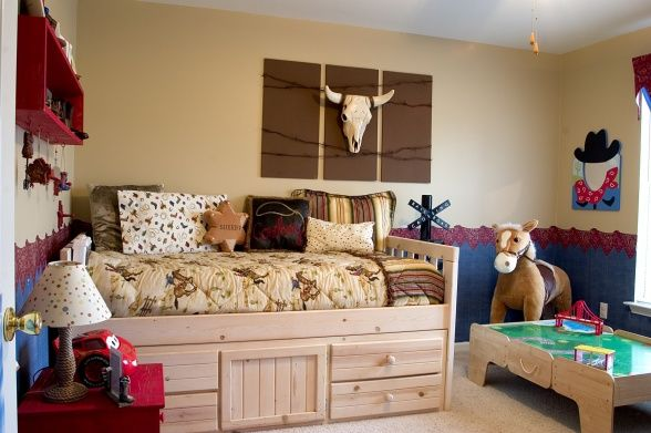 Cowboy Decor For Boys Room | Cowboy Room, Any boy would love this cowboy room. The bottom is ...