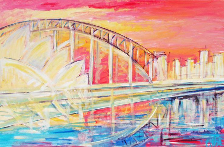 Sydney acrylic painting