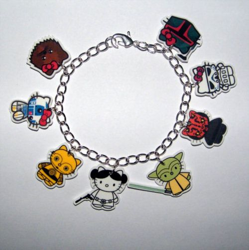 Hello Kitty/Star Wars charm bracelet: Charm Bracelets, Stars, Star Wars, Hellokitty, Hello Kitty, Starwars