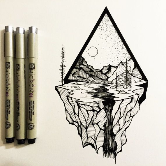 17 best ideas about tumblr drawings on pinterest for Cool easy pen drawings