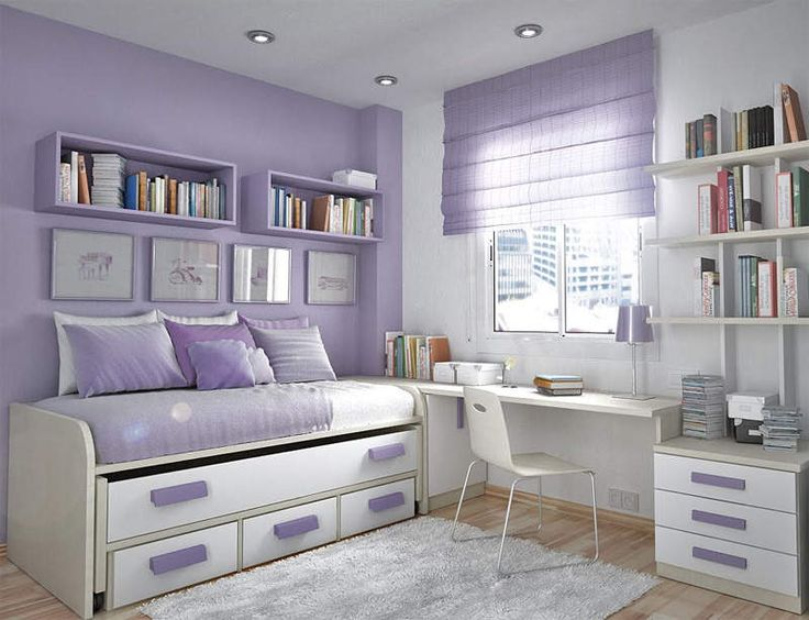 I like this room, even though it be small :) Cute room, more for a younger girl than a teenager, but that's just my opinion. Too much purple. It needs another colour, like brown or deep, deep blue. ~Emilie
