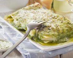 Lasagnes aux jeunes pousses d'épinard, ricotta et pistou de basilic : http://www.fourchette-et-bikini.fr/recettes/recettes-minceur/lasagnes-aux-jeunes-pousses-depinard-ricotta-et-pistou-de-basilic.html