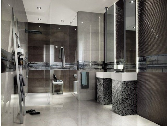 46 best Idée salle de bains images on Pinterest Modern bathroom - salle de bain ardoise