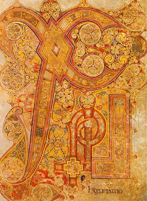 The Book of Kells is a masterwork of Western calligraphy and represents the pinnacle of Insular illumination.