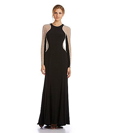 Xscape Beaded Gown #Dillards