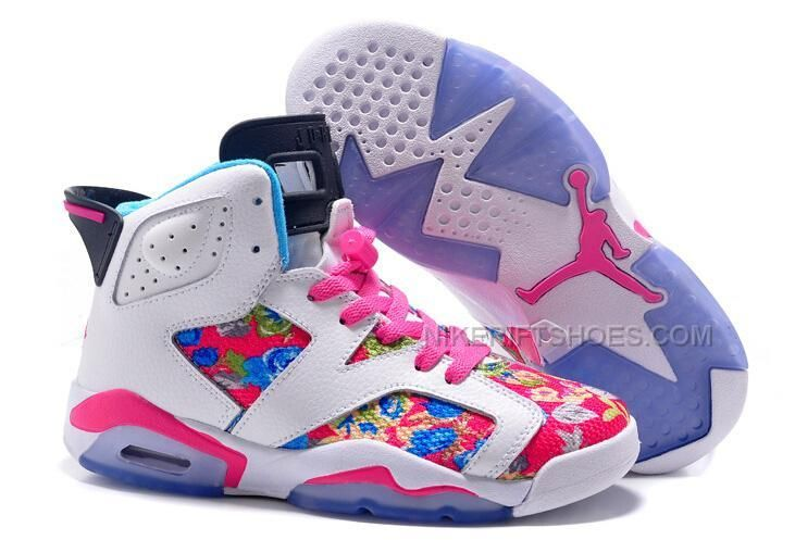 http://www.nikeriftshoes.com/2015-spring-latest-nike-air-jordan-6-flower-womens-shoes-white-blue-pink-purple-sneakers-outlet.html 2015 SPRING LATEST NIKE AIR JORDAN 6 FLOWER WOMENS SHOES WHITE BLUE PINK PURPLE SNEAKERS OUTLET Only $99.00 , Free Shipping!