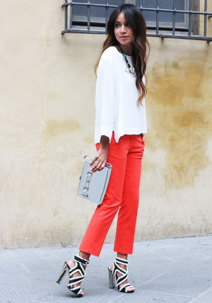 Sincerely Jules in Firenze.   Red, white and a little bit of black.