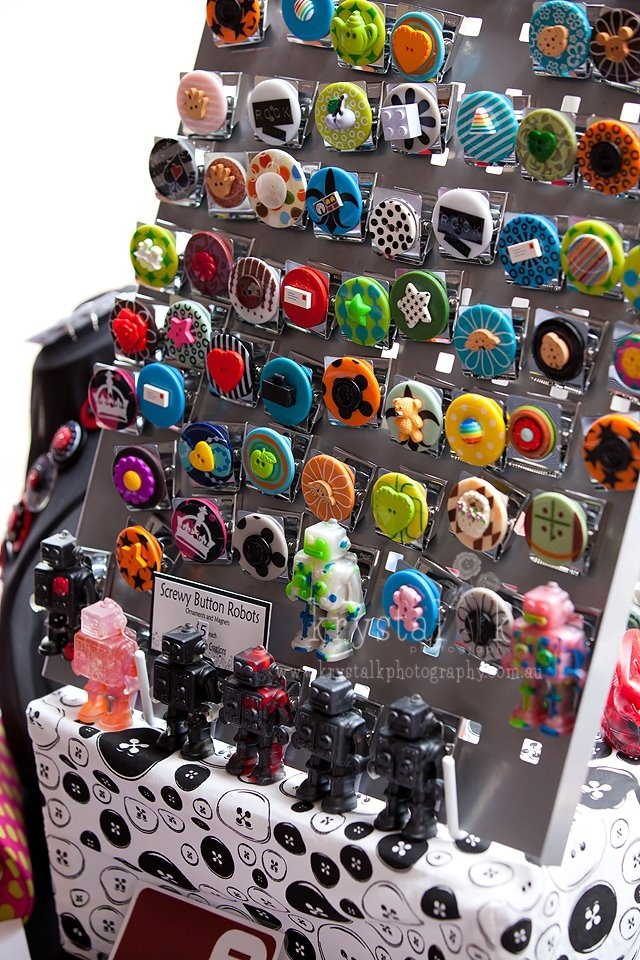 ButtonArtMuseum.com - Our extremely popular Button Clip Magnets    Photography by   http://www.facebook.com/krystalkphoto