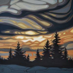 Approaching night, www.hawkesfineart.com