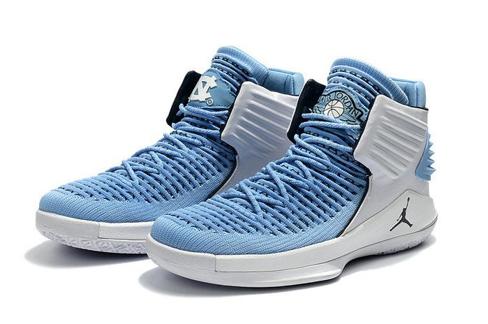 e5d49a56293aa0 2018 Purchase Air Jordan 32 XXXII UNC Tar Heels PE White and Carolina Blue