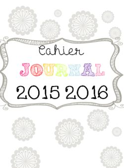 Cahier Journal Version 2015/2016