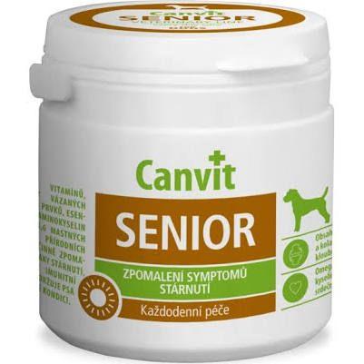 Canvit Senior zpomalení symptomu stárnutí(vitamíny,stop.prvky,omega 3,6 mastné kyseliny) 100g    168,-Kč