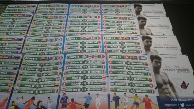 Calendarios del mundial de fútbol Brasil 2014 con la publicidad de Decisiones